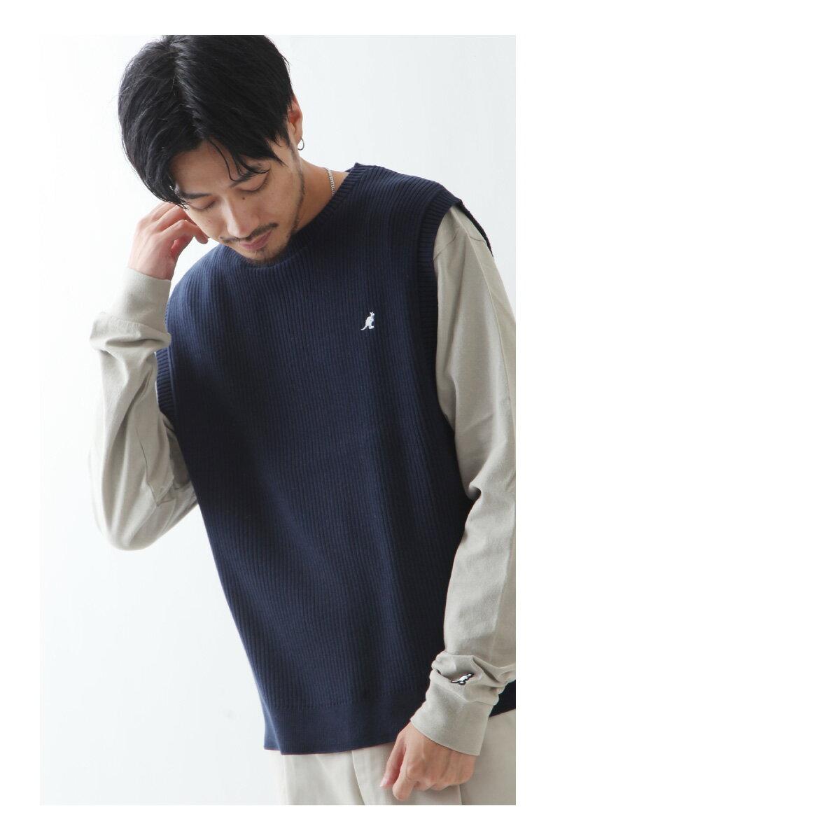 素色純棉針織背心 KANGOL聯名款 1