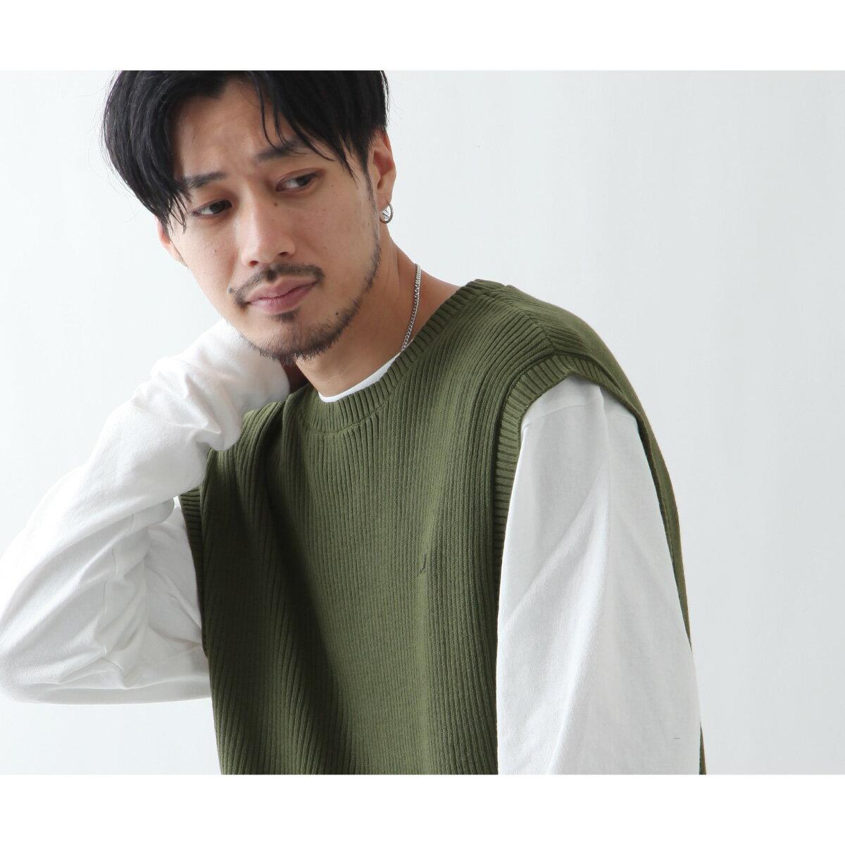 素色純棉針織背心 KANGOL聯名款 5
