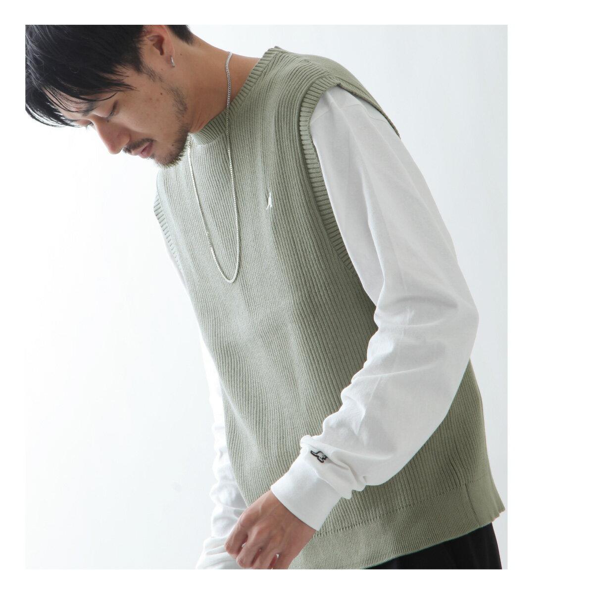 素色純棉針織背心 KANGOL聯名款 8