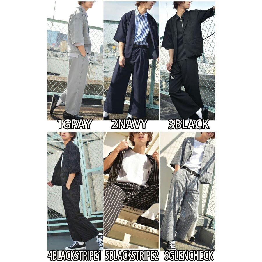 紳士風夾克 九分寬褲 兩件組 2