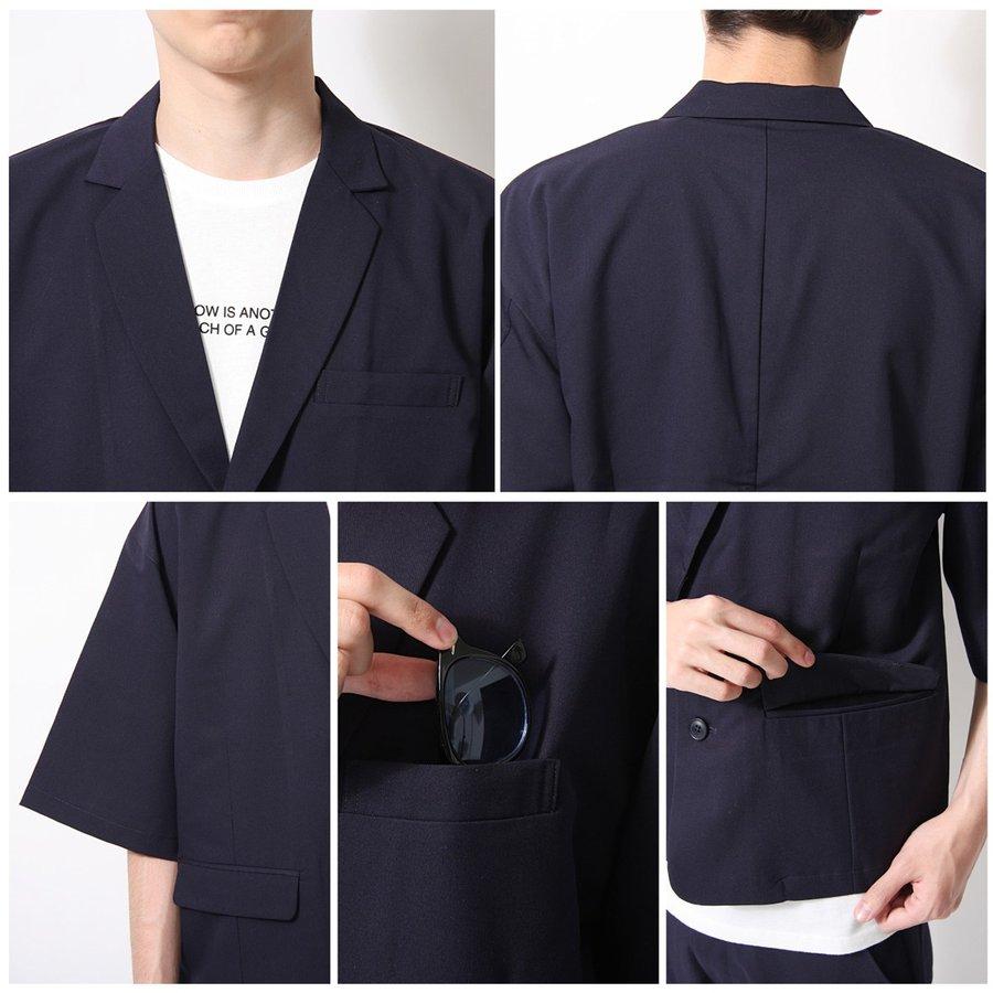 紳士風夾克 九分寬褲 兩件組 4