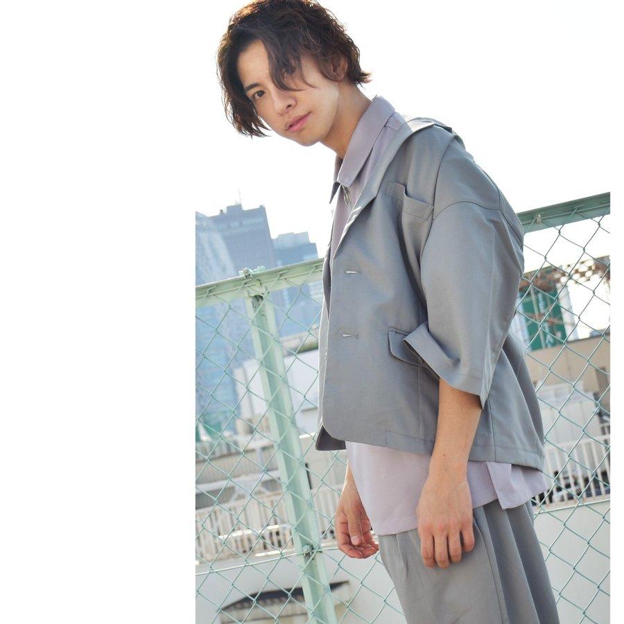 紳士風夾克 九分寬褲 兩件組 6