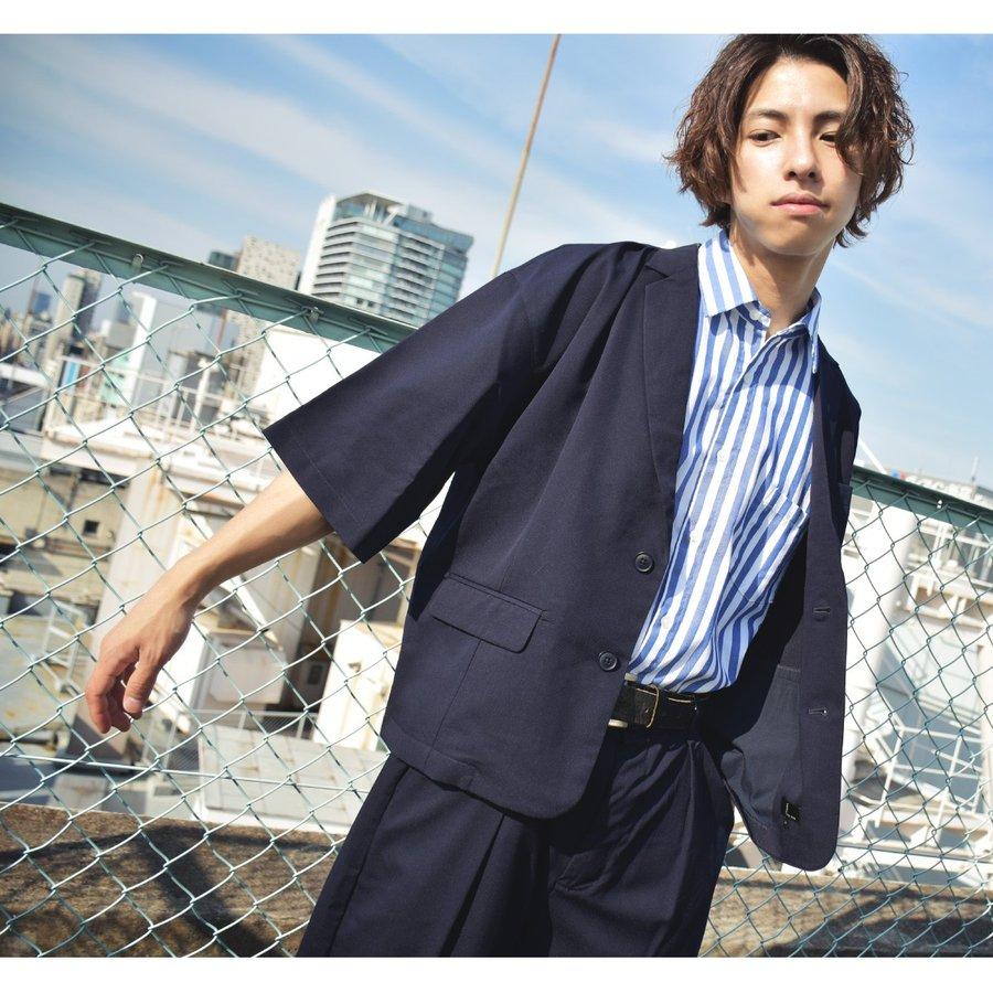 紳士風夾克 九分寬褲 兩件組 1