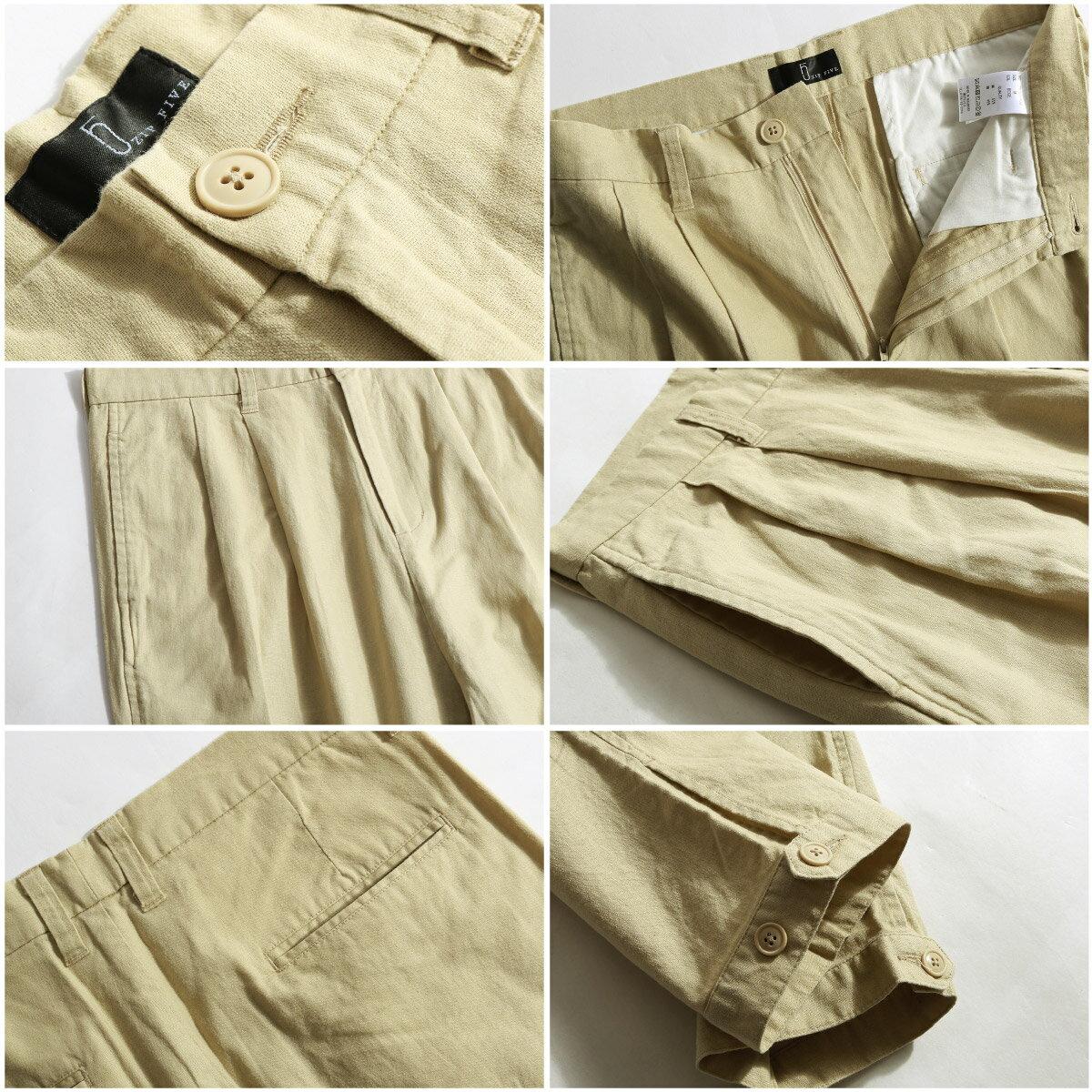 綿麻寬褲 3