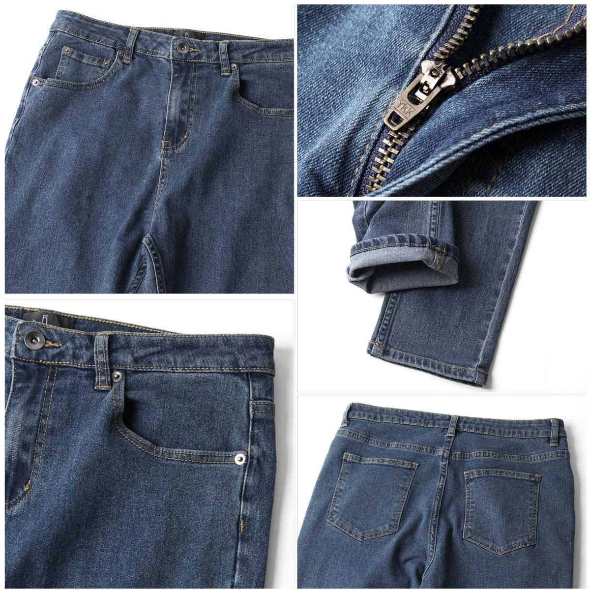 丹寧錐形褲 伸縮彈性 4