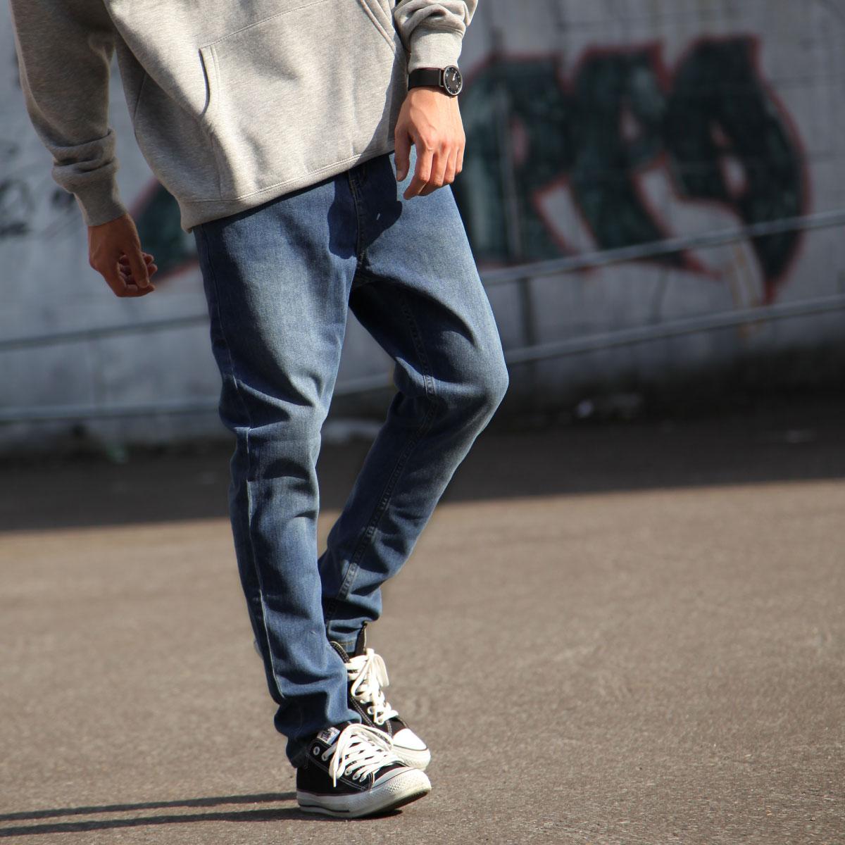 丹寧錐形褲 伸縮彈性 1