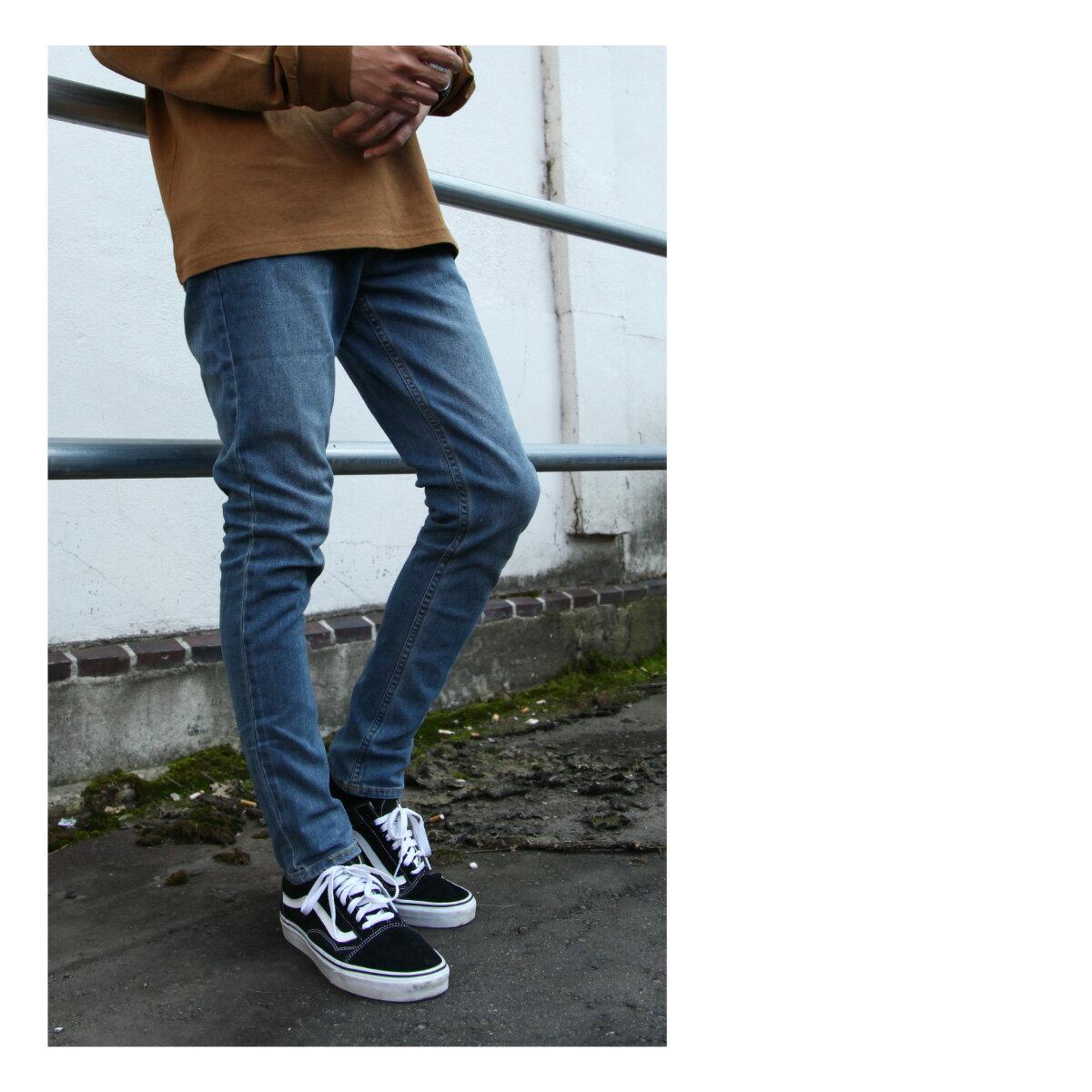 窄管牛仔褲 伸縮彈性 1