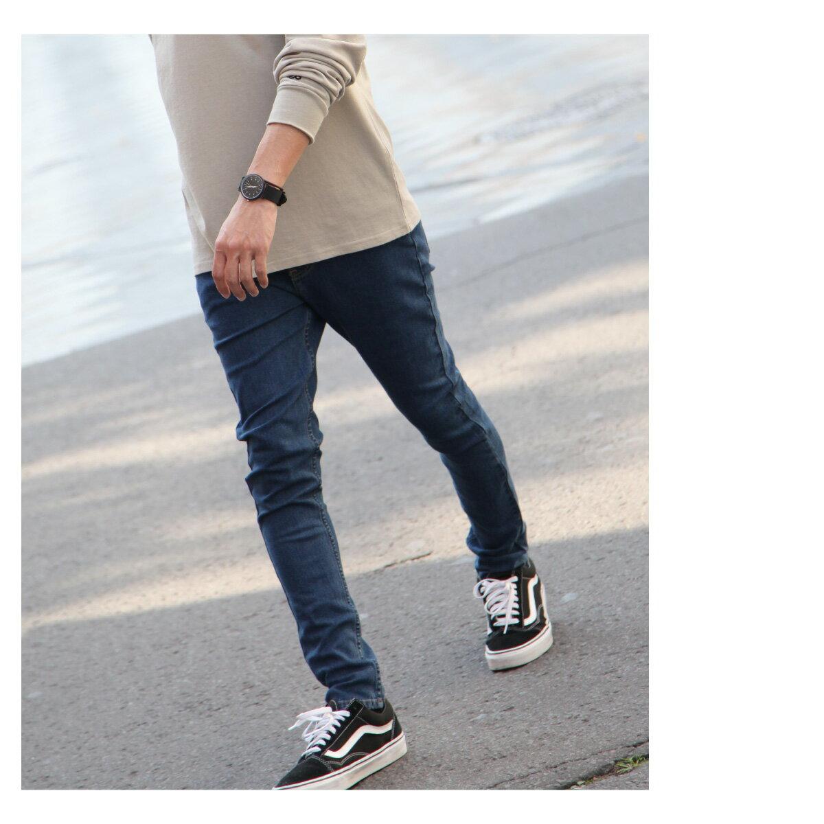 窄管牛仔褲 伸縮彈性 7