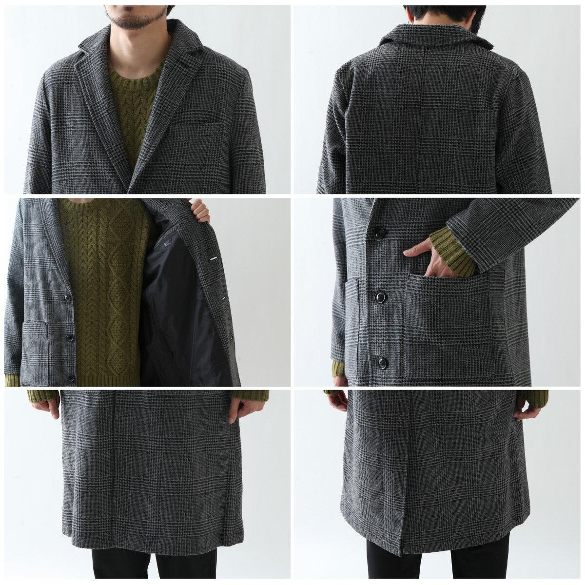 切斯特長大衣 混羊毛 4