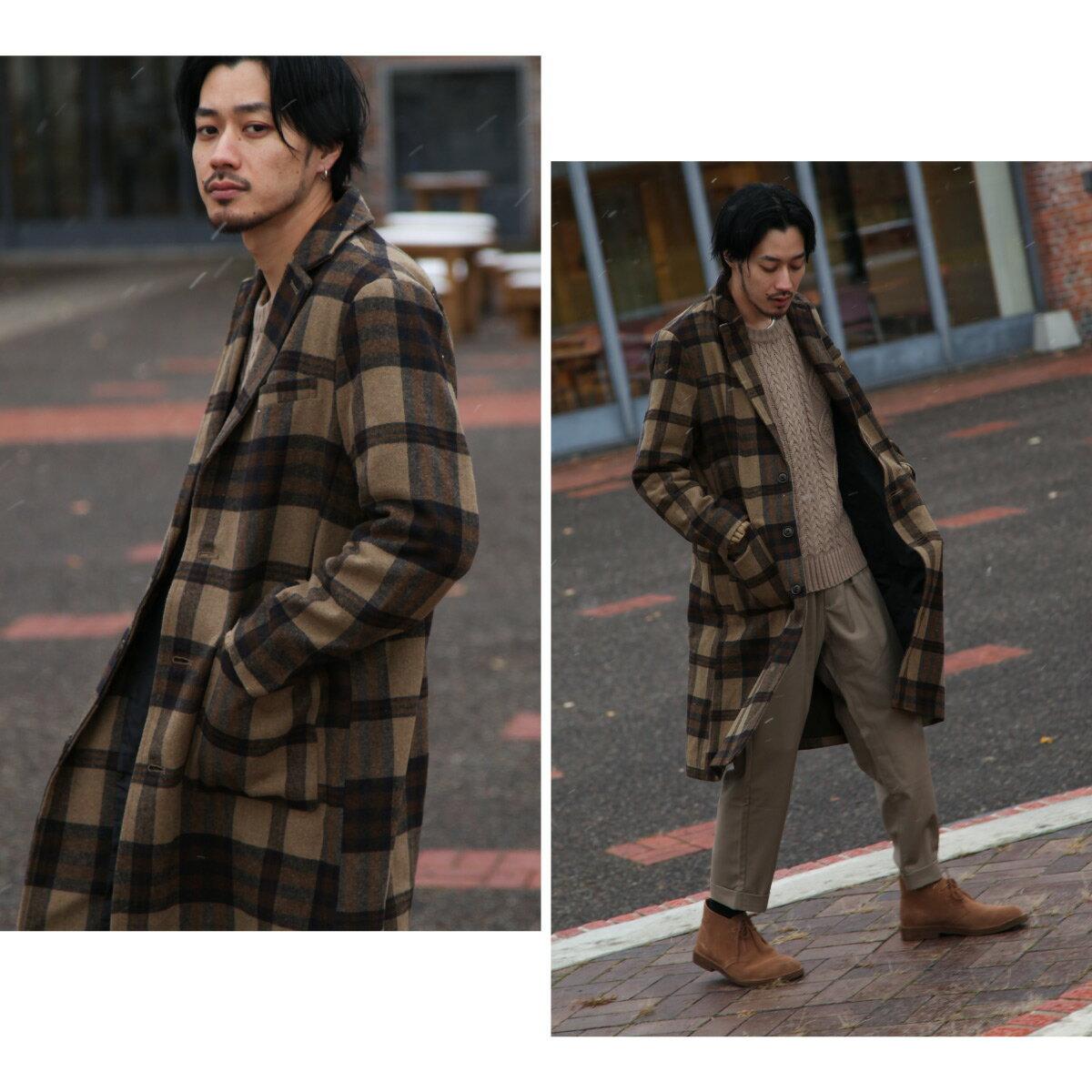 切斯特長大衣 混羊毛 7