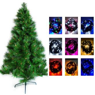 台灣製10呎/10尺 (300cm)特級綠松針葉聖誕樹(不含飾品)+100燈LED燈6串(附控制器)YS-GPT010501