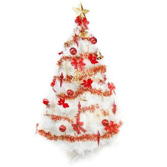 台灣製10呎/10尺 (300cm)特級白色松針葉聖誕樹 (紅金色系配件)(不含燈)YS-WPT010001