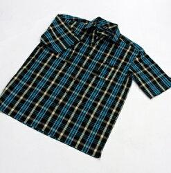 『摩達客』美國進口真品吹牛老爹人氣品牌【 Sean John 】Sophiticate藍黃彩格短袖休閒衫