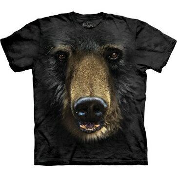 『摩達客』    美國 【The Mountain】Classic自然純棉系列 黑熊臉 黑