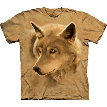 『摩達客』美國進口【TheMountain】Classic自然純棉系列金狼眼黃色T恤