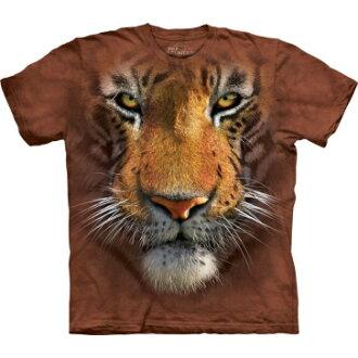 『摩達客』[ 預購 ](大尺碼3X)美國進口【The Mountain】Classic自然純棉系列 虎臉 棕色設計T恤