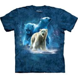 『摩達客』[ 預購 ]美國進口【The Mountain】Classic自然純棉系列 北極熊群 藍色設計T恤