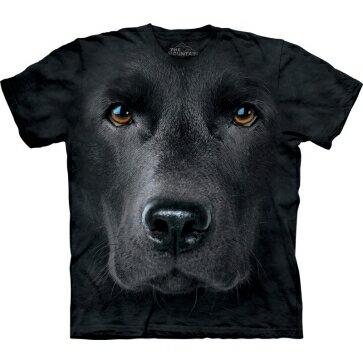 『摩達客』Classic自然純棉系列黑拉不拉多臉黑色設計T恤