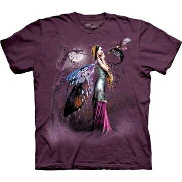 『摩達客』[ 預購 ]美國進口【The Mountain】Classic自然純棉系列 龍低語 紫紅色設計T恤
