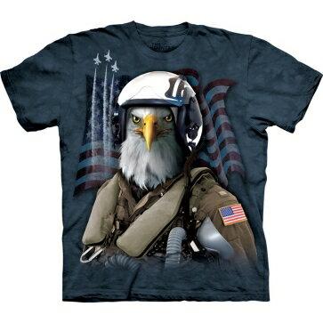 『摩達客』[ 預購 ](大尺碼3X)美國進口【The Mountain】Classic自然純棉系列 老鷹空軍 藍色設計T恤