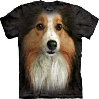 『摩達客』[ 預購 ]美國進口【The Mountain】Classic自然純棉系列 喜樂蒂牧羊犬臉設計T恤