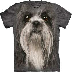 『摩達客』[ 預購 ](大尺碼3XL)美國進口【The Mountain】Classic自然純棉系列 獅子狗犬臉 設計T恤