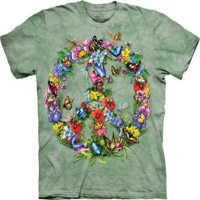 『摩達客』[ 預購 ]美國進口【The Mountain】Classic自然純棉系列 蝴蝶和平設計T恤