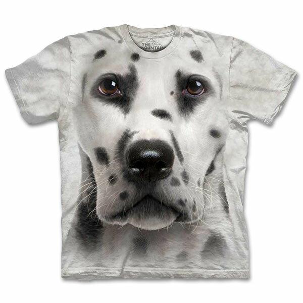 『摩達客』美國進口【The Mountain】自然純棉系列 大麥町犬臉 T恤