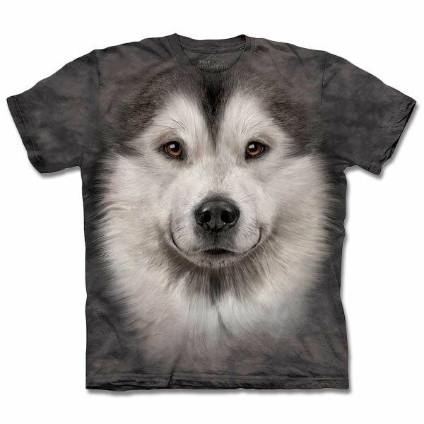 『摩達客』Classic自然純棉系列哈士奇雪橇犬臉T恤