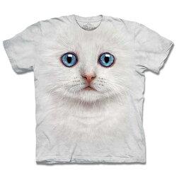『摩達客』[ 預購 ]美國進口【The Mountain】自然純棉系列 雪白小貓 T恤