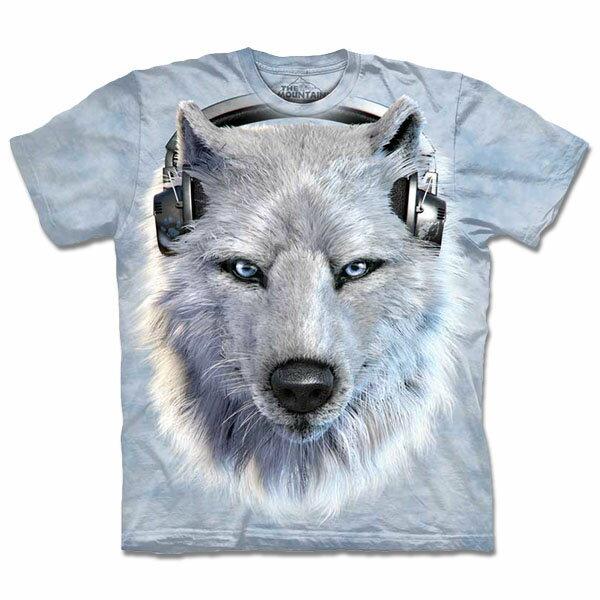 『摩達客』[ 預購 ]美國進口【The Mountain】自然純棉系列 DJ白狼 T恤