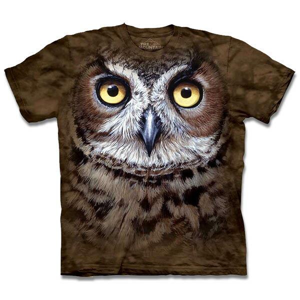 『摩達客』[預購](大尺碼3XL)美國進口【TheMountain】自然純棉系列斑紋貓頭鷹T恤