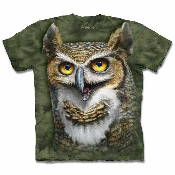 『摩達客』美國 【The Mountain】自然純棉系列 貓頭鷹博士 T恤