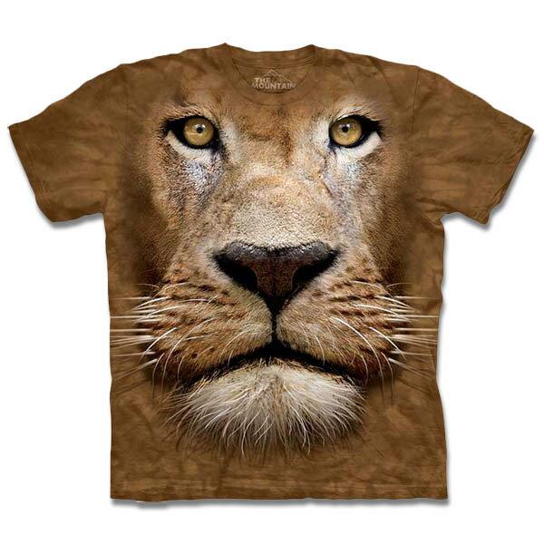 『摩達客』[ 預購 ]美國進口【The Mountain】自然純棉系列 辛巴獅臉 T恤