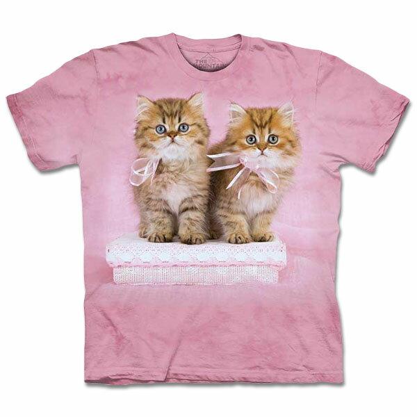 『摩達客』[ 預購 ]美國進口【The Mountain】自然純棉系列 緞帶小貓 T恤