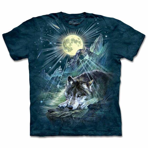 『摩達客』[ 預購 ](大尺碼3XL) 美國進口【The Mountain】自然純棉系列 夜狼協奏曲 T恤