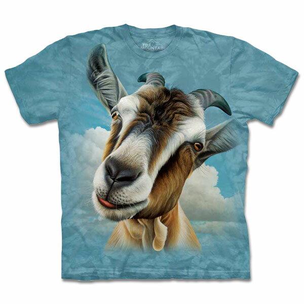 『摩達客』[預購](大尺碼3XL)美國進口【TheMountain】自然純棉系列山羊頭T恤