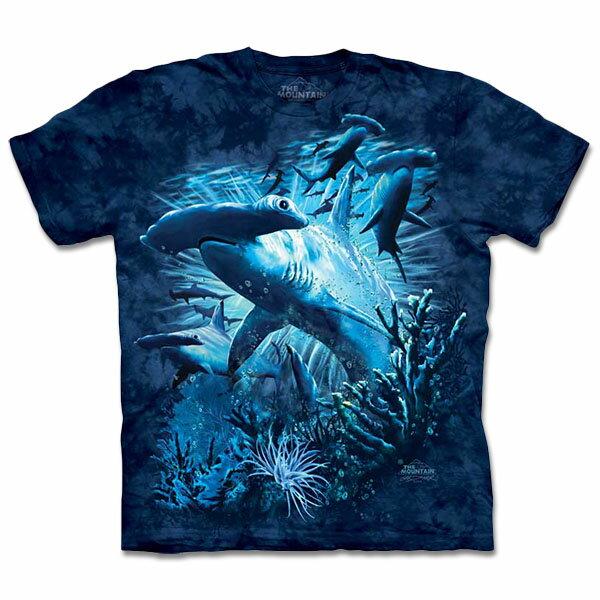 『摩達客』[ 預購 ]美國進口【The Mountain】自然純棉系列 雙髻鯊群 T恤