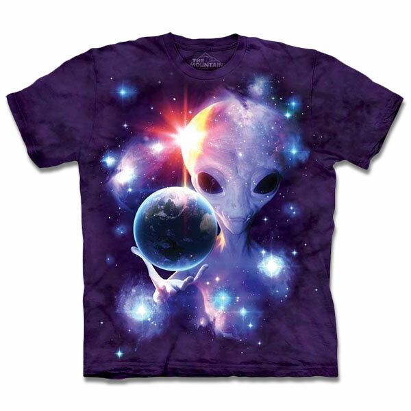 『摩達客』[ 預購 ]美國進口【The Mountain】自然純棉系列 ET與地球T恤