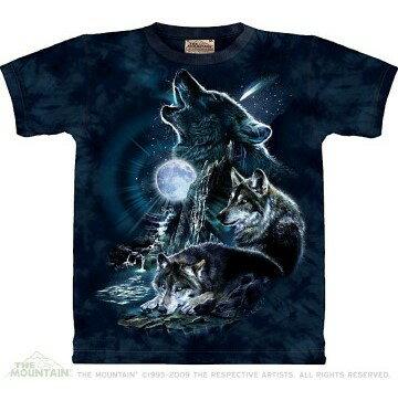 『摩達客』美國進口超夯人氣T恤品牌【The Mountain】嘯月之狼深藍設計T恤