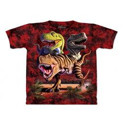 『摩達客』[ 預購 ]美國進口【The Mountain】Classic自然純棉系列 雷克斯龍群 紅色T恤