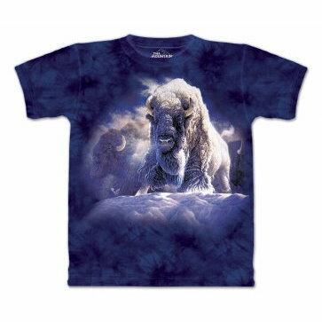 『摩達客』[ 預購 ]美國進口【The Mountain】Classic自然純棉系列 神聖牛像 深藍色設計T恤