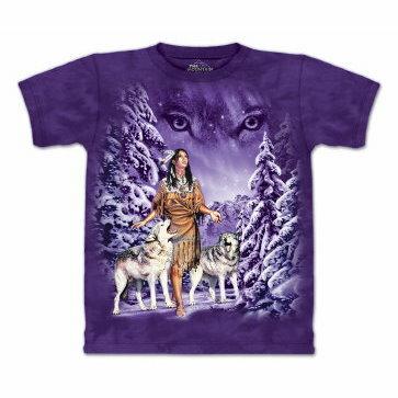 『摩達客』[ 預購 ]美國進口【The Mountain】Classic自然純棉系列 狼眼 紫色設計T恤