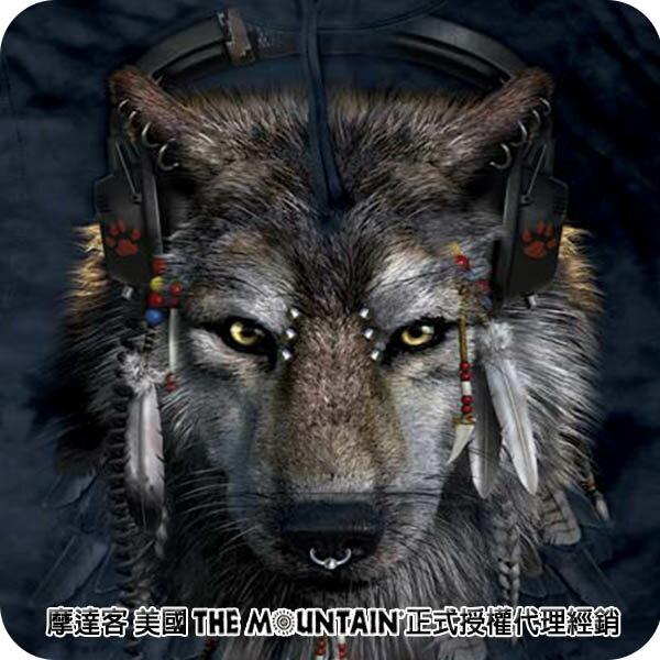 『摩達客』(預購)美國進口【The Mountain】DJ狼 長袖連帽T恤