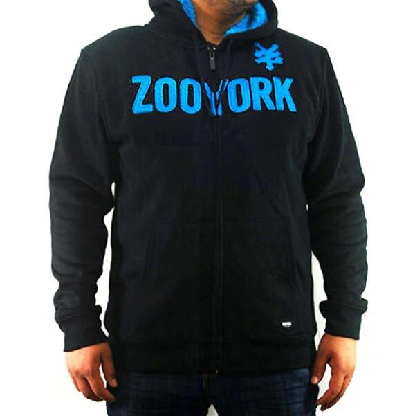 『摩達客』美國進口【Zoo York】超酷藍標連帽外套