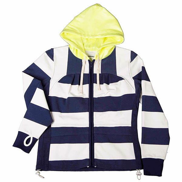 『摩達客』美國LA設計品牌【Suvnir】藍白橫紋女版連帽外套