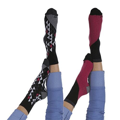 『摩達客』英國進口Pretty Polly 時尚嬉皮圖騰紋棉襪腳踝襪短襪超值組(一組兩雙不同款)