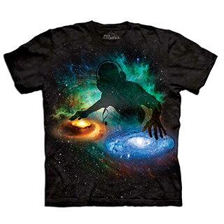 『摩達客』(預購) 美國進口【The Mountain】自然純棉系列 銀河DJ 設計T恤