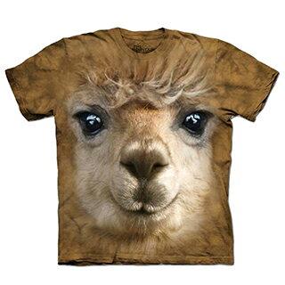 『摩達客』 美國進口【The Mountain】自然純棉系列 羊駝草泥馬臉 設計T恤