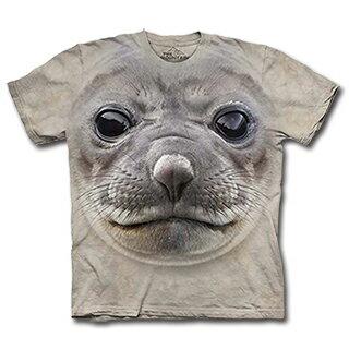 『摩達客』(預購) 美國進口【The Mountain】自然純棉系列 海豹臉 設計T恤